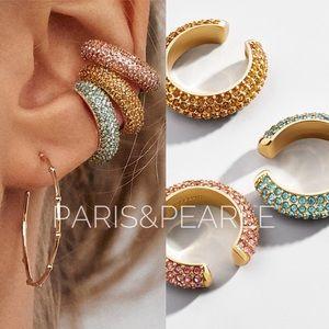 Chic Simplicity Stackable Rhinestone Ear Cuffs